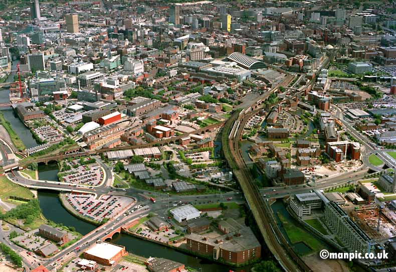 aerial photo           castlefields manchester