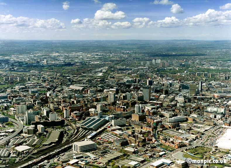 aerial photographs of           manchester