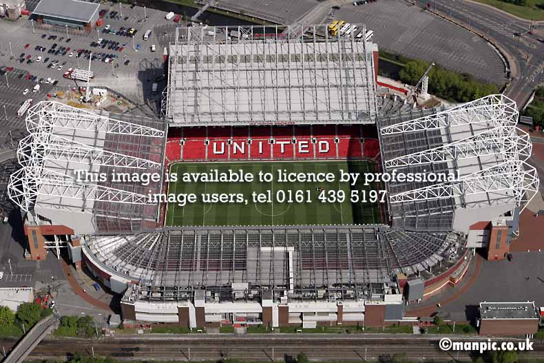 aerial photograph of           stadium manchester