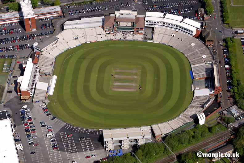 aerial photograph of           old trafford cricket ground manchester