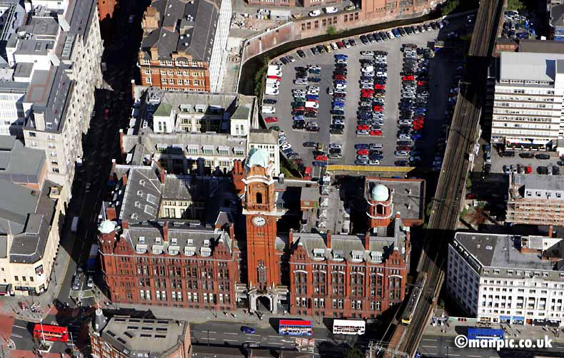 aerial photo of refuge           building manchester